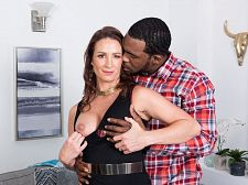 Ass-fucked by a larger than average, darksome cock
